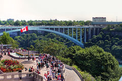 View and Details of Niagara Fall City Stock Image