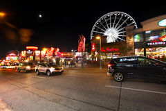 View and Details of Niagara Fall City Stock Photography