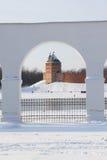 View Detinets from Yaroslav's Court. Veliky Novgorod, Russia stock photo