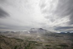 View of devastation around Mt St Helens Stock Images
