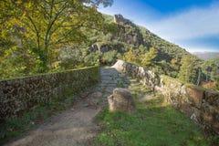 Devil Bridge aka Ponte da Misarela, Geres National Park royalty free stock image