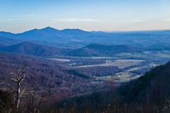 View of Devils Backbone and the Piedmont of Virginia, USA Stock Images
