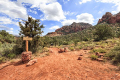 View of devils bridge trailhead in Sedona, USA Stock Photo