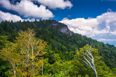 View of Devils Courthouse, on the Blue Ridge Parkway in North Ca Royalty Free Stock Photo