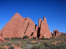 View of Devils Garden in Arches park Royalty Free Stock Photo