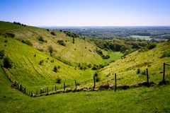View from Devils Kneading Trough near Wye Stock Photo