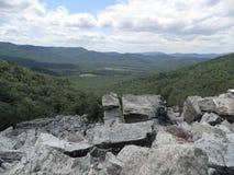 View from Devils Marbleyard, VA blue ridge parkway Stock Image