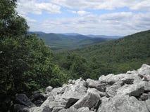View from Devils Marbleyard, VA blue ridge parkway Royalty Free Stock Images