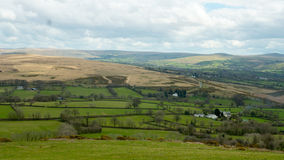 View of Devon Countryside. From Brentor Church Stock Images