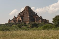View of the Dhammayan Gyi Temple, Bagan. Panoramic View of the archaeological park of the ancient temples and pagodas of Bagan. Myanmar royalty free stock photography