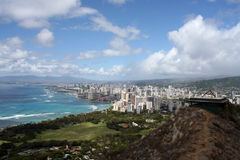 View from Diamond Head Crater stock photo