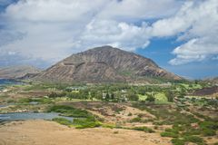 View of Diamond Head Crater Stock Photos