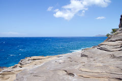 View of Diamond Head from Spitting Caves Royalty Free Stock Photos
