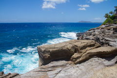 View of Diamond Head from Spitting Caves Royalty Free Stock Photography