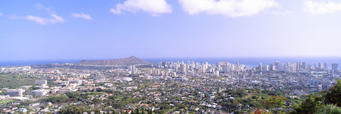 View from Diamond Head Volcano Royalty Free Stock Image