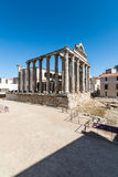 View Diana Temple archaeological remains Merida Spain Royalty Free Stock Photos