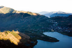 View of Dieng Stock Photography