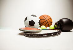 View of different olympics sport. On white background Stock Images