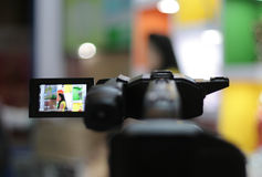 View of Digital Video reorder view finder Royalty Free Stock Photography