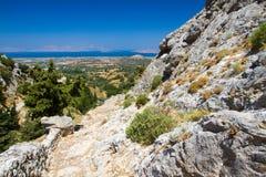 View from Dikeos hill, Kos, Greece. Stock Photos