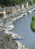 View of Dinan Port, France Stock Photo