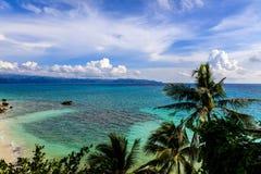 View of Diniwid Beach, Boracay Island, Philippines Royalty Free Stock Photos