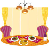 The view of dinner table Royalty Free Stock Photo