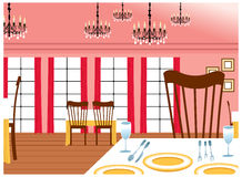The view of Dinning tables Stock Images