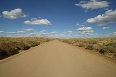 View of a dirt road near Chacon Canyon, New Mexico, USA Royalty Free Stock Photo