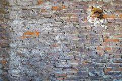 Dirty smoked brick wall Royalty Free Stock Image