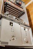 View of disassembled gas boiler for repair. View of the disassembled gas boiler for repair stock photography