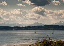 View from Discovery Park. In Seattle, WA royalty free stock photos