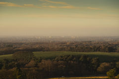 View of the Disley and Manchester from Lyme Park, Stockport Cheshire England winter day Stock Photos