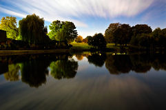 View of Diss Mere Park Norfolk Stock Photography