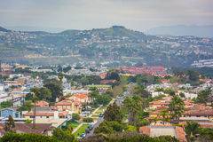 View of distant hills and houses from Hilltop Park in Dana Point Stock Photos