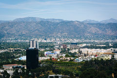 View of distant mountains and Universal City  Stock Photo