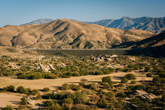View of distant mountains from Vasquez Rocks County Park, in Agu Stock Photography