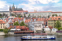 View of the district of the castle in Prague Stock Image