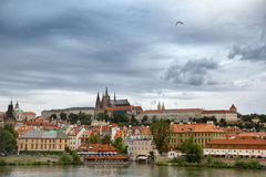 View of the district of Hradcany in Prague Royalty Free Stock Photography