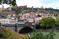 View of the district in old town of Tbilisi Royalty Free Stock Photo