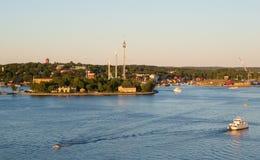 View of Djurgarden island in Stockholm Stock Photos