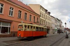 View of Dluga street in Bydgoszcz, Poland. Royalty Free Stock Photos
