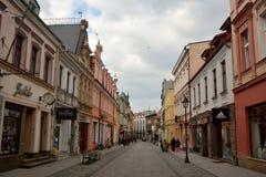 View of Dluga street in Bydgoszcz, Poland. Royalty Free Stock Photo