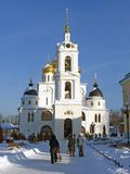 View of Dmitrov Kremlin in winter Stock Photography