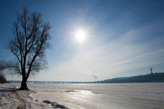 View of Dnieper Stock Photos