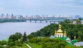 View of the Dnieper from Kiev Pechersk Lavra, Ukraine Stock Photo
