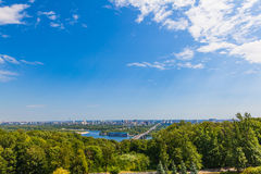 View of the Dnieper in Kiev Stock Image