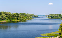 View of Dnieper river in Kiev Stock Photography