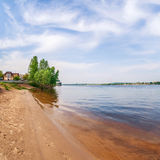 View of Dnieper river in Kiev, Ukraine Royalty Free Stock Images