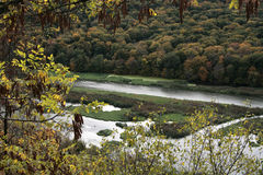 View of the Dniester canyon in the Ternopil region. Royalty Free Stock Photography